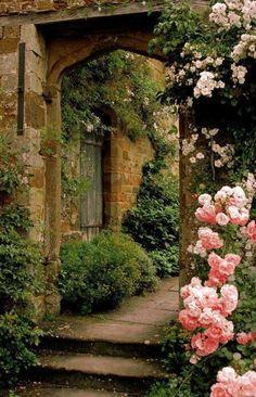 Roses Gardening Secret Garden Cottage Landscape/Yard - Found on Zillow Digs - The Secret Garden, Secret Gardens, Garden Cottage, Tuscan Garden, Rose Cottage, Parcs, Garden Gates, Garden Entrance, Garden Archway