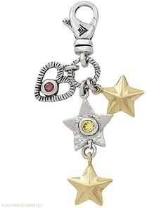 Shoot for the Stars! Celebrate life's little blessings with a lovely charm. They speak about our feelings of faith,, hope and love! Here Sterling Silver, Brass, Cubic Zirconia.