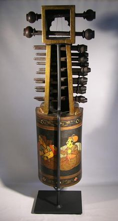 antique Sarangi (stringed instrument) from India.