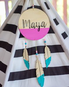 I'll be placing a custom wooden dream catcher order in the next couple of days. If you're interest let me know. These are perfect for decorating your little ones tepees! Plain dream catcher - $55 Painted dream catcher / beads - $65 Plain dream catcher / floral arrangement beaded and painted feathers $70 #lasercut #babyroomdecor #kidsroomdecor #woodenfeathers #feathers #dreamcatcher #customname by wolfpackandco