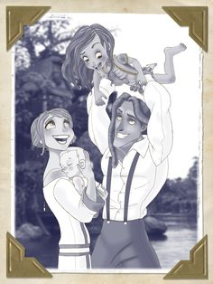 I never thought about Tarzan and Jane having children, but I find this adorable! 1921 by ashren.deviantart.com