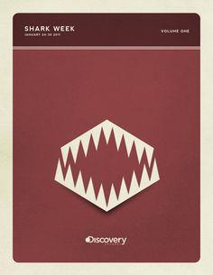 Shark week Cool Poster Design Inspiration