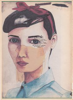 The French Girl With Sadness In Her Eyes by Julie Tillman (joyfulstudio on Etsy) Art And Illustration, January Art, In Her Eyes, Indie, Art World, Unique Art, Collage Art, Art Drawings, Poster