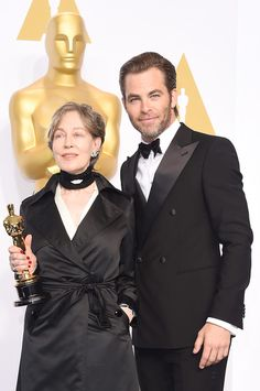 Chris Pine Photos - 87th Annual Academy Awards Press Room - Zimbio