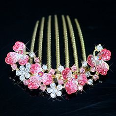 Bridalvenus Wedding Bridal Hair Combs for Women and Girls RedMarriage Jewelry for Bridesmaids and Flowergirls *** Want to know more, click on the image.(This is an Amazon affiliate link and I receive a commission for the sales)