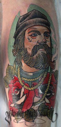 Sea man :) #oldschool #tattoo #marine #sailor #sea #ship