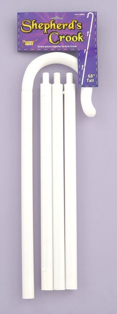 White Shepherd's crook assembles from three pieces! Accessorize your Little Bo Peep, fairytale, shepherd, angel or mountain climber Halloween costume! Diy Sheep Costume, Baby Lamb Costume, Sheep Costumes, Nativity Costumes, Toy Story Costumes, Christmas Costumes, Angel Costumes, Christmas Pageant, Toy Story Halloween