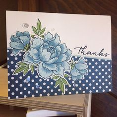 Peony Thanks by mfb - Cards and Paper Crafts at Splitcoaststampers Scrapbooking, Scrapbook Cards, Altenew Cards, Peonies Bouquet, Stamping Up Cards, Watercolor Cards, Card Sketches, Copics, Paper Cards