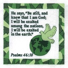 Psalms 46:10 - 6x10 | What's New | Machine Embroidery Designs | SWAKembroidery.com Starbird Stock Designs