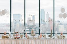 Winter Wonderland 1st Birthday Party  Read more - http://www.stylemepretty.com/living/2014/03/13/winter-wonderland-1st-birthday-party/