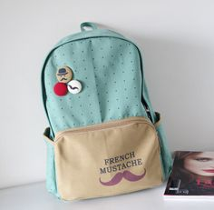 2014 mustache female canvas backpack,middle students school bags,cute backpacks,backpacks for teenage girls,herschel backpack D2-inCasual Daypacks from Luggage & Bags on Aliexpress.com | Alibaba Group