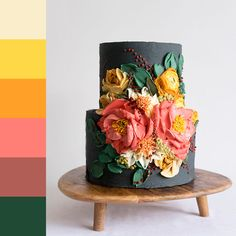 For those with a sweet tooth, selecting the perfect wedding cake for one's wedding can prove to be one of the favorite aspects of the wedding planning process. Fancy Cakes, Cute Cakes, Pretty Cakes, Gorgeous Cakes, Amazing Cakes, Cake Cookies, Cupcake Cakes, Buttercream Flowers, Unique Cakes