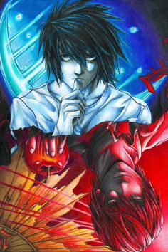 Death note. L and Kira (Light).
