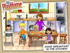 My PlayHome ($3.99) a doll house where your child can use everything, even the closets, TV and shower. Where you can fry an egg and feed the family pizza. Where you can pour drinks, blow bubbles and turn out the lights. Recommended for use with AAC learners by Anne Hamelin.