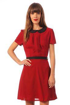 Pencil dress - f23-862-567 - Red / Orange