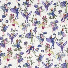 Michael Miller flower fabric Petite Fairies flower fairy - Flower Fabric - Fabric - kawaii shop modeS4u