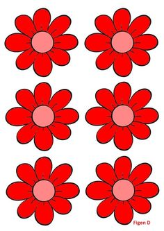 Spring Crafts For Kids, Summer Crafts, Diy And Crafts, Spring Activities, Color Activities, Colorful Flowers, Spring Flowers, Flower Games, Happy Birthday Printable