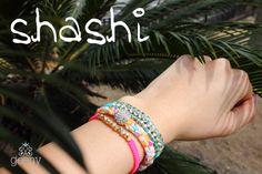 arm party with shashi's bracelets:)))