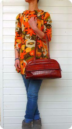 Luxus GIUDIT Leder Schultertasche Tasche Bag Damen Handtasche Tragetasche Kroko | eBay