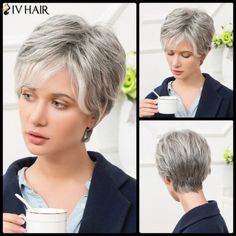 SHARE & Get it FREE | Siv Short Side Bang Shaggy Straight Human Hair WigFor Fashion Lovers only:80,000+ Items·FREE SHIPPING Join Dresslily: Get YOUR $50 NOW!
