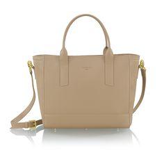 CARA latte leather bag