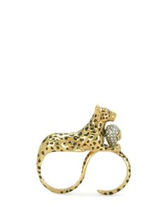 Luxe Leopard Double Finger Ring #JuicyCouture