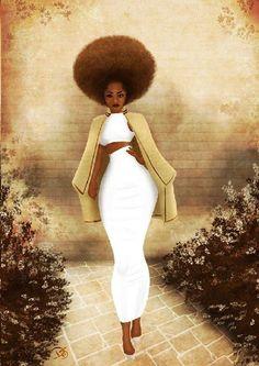 artsy | afro puff