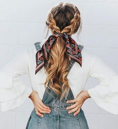 Easy Hairstyles 21 pretty ways to wear a scarf in your hair, easy hairstyle with scarf , hairst. 21 pretty ways to wear a scarf in your hair, easy hairstyle with scarf , hairstyles for really hot weather Scarf Hairstyles, Cool Hairstyles, Easy Braided Hairstyles, Cute Hairstyles For School, Hairdos, Wedding Hairstyles, Hairstyle Ideas, Hairstyles For Summer, Bandana Hairstyles For Long Hair