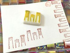 PAW UP - Hand Carved Rubber Stamps/DIY Background/Postcard/Hands Up/Pets/Dog/Cat by KeiWorkshop on Etsy https://www.etsy.com/hk-en/listing/288903777/paw-up-hand-carved-rubber-stampsdiy