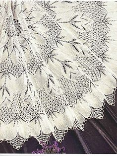 Ravelry: Tablecloth Burda by Herbert Niebling pattern by Herbert… Lace Knitting Stitches, Lace Knitting Patterns, Crochet Doily Patterns, Shawl Patterns, Crochet Doilies, Baby Knitting, Knit Crochet, How To Start Knitting, Lace Doilies