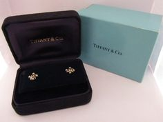 Platinum/18KT VVS Diamond Tiffany Earrings, With Appraisal and Original Boxes