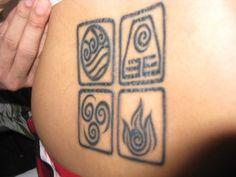 Avatar: The Last Airbender elemental symbol tattoo