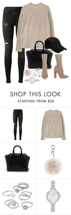 """""""Untitled #94"""" by marinas-clothes ❤ liked on Polyvore featuring rag & bone, MANGO, Givenchy, Fendi, YEEZY Season 2, Candie's and Kate Spade"""