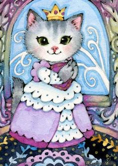 Art 'Queen of the Castle ACEO' - by Carmen Medlin from Sold Art