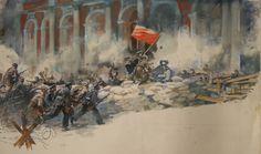 Bolshevik barricade