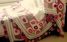 couvre-lit 001 - Photo de plaids et couvertures crochet - clothogancho2
