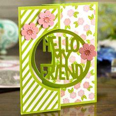 The Stamps of Life :: Dies :: Exclusive :: Hello My Friend Circle Dies -2 pack