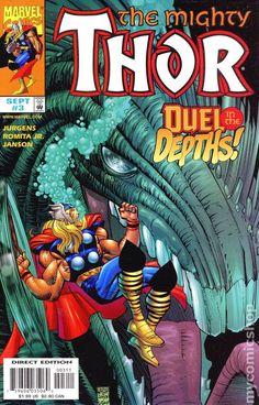 Mighty Thor Vol. 2 # 3 by John Romita Jr. Marvel Comic Books, Marvel Characters, Marvel Comics, Asgard Marvel, Marvel Heroes, Vintage Comic Books, Vintage Comics, Female Thor, John Romita Jr