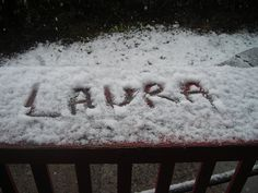 Laura in snow