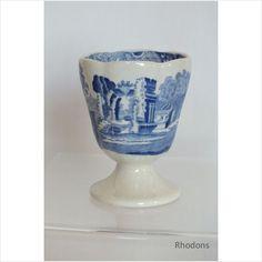 Spode Blue  White Italian Design Egg Cup on eBid United Kingdom