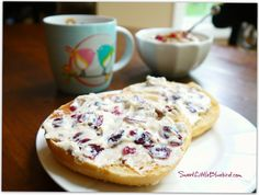 Maple Cranberry Spread - Only 4 Ingredients, So good!  (Cream Cheese, Maple Syrup, Cranberries, Toasted Pecans)