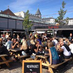 Torvehallerne (glass market) in Copenhagen