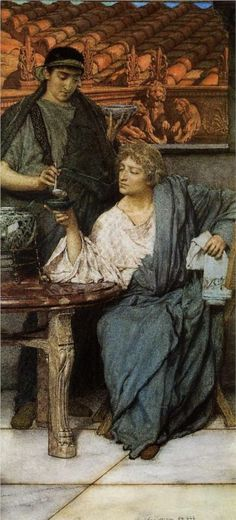 The Roman Wine Tasters -  Sir Lawrence Alma-Tadema 1861