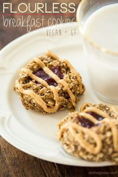 Flourless Thumbprint Breakfast Cookies (Vegan + GF) — Oh She Glows