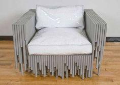 tubos de reciclagem de design de mobiliário exclusivo