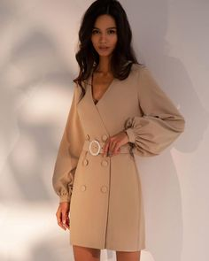 Beige Mini Dresses, Short Dresses, Girls Dresses, Fashion Jobs, Fashion Models, Tuxedo Dress, Business Dresses, Everyday Dresses, Online Fashion Stores
