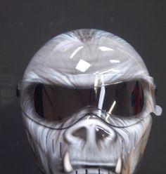 custom paint airbrushed helmet bandit xxr like simpson