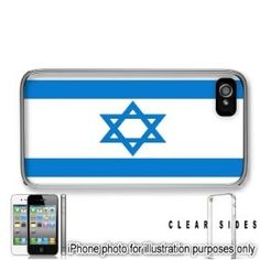 590002d1a Amazon.com: Israel Hebrew Jewish Flag Apple iPhone 4 4S Case Cover Clear on  Sides: Cell Phones & Accessories