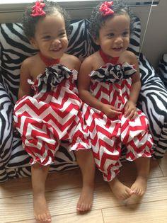 Twin girls 4th of July