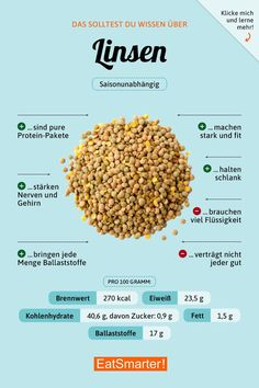 Wissenswertes rund um Linsen Lentils: Recipes and Knowledge EAT SMARTER Image by Aurela Lawson As you get older, certain aspects. Proper Nutrition, Health And Nutrition, Nutrition Guide, Holistic Nutrition, Complete Nutrition, Nutrition Store, Nutrition Education, Menu Dieta, Salud Natural